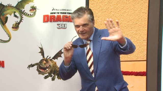 fred willard at the 'how to train your dragon' premiere at universal city ca - how to train your dragon stock videos & royalty-free footage