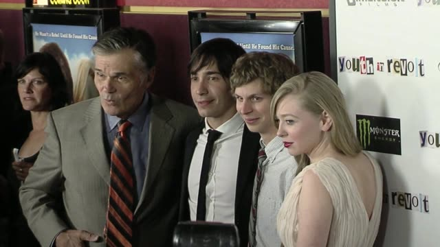 Fred Willard Justin Long Michael Cera Portia Doubleday at the 'Youth In Revolt' Premiere at Los Angeles CA