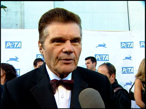 Fred Willard on being bothered by the animal shelters at the PeTA's 25th Anniversary Gala And Humanitarian Awards Show at Paramount Studios in...