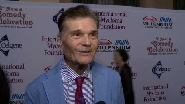 fred willard on what we can expect from his performance and on a fond memory of peter boyle at international myeloma foundation 6th annual comedy... - peter boyle stock videos & royalty-free footage