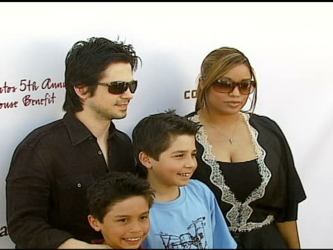 Freddie Rodriguez and family at the John Varvatos 5th Annual Stuart House Benefit at John Varvatos Boutique in Los Angeles California on March 11 2007