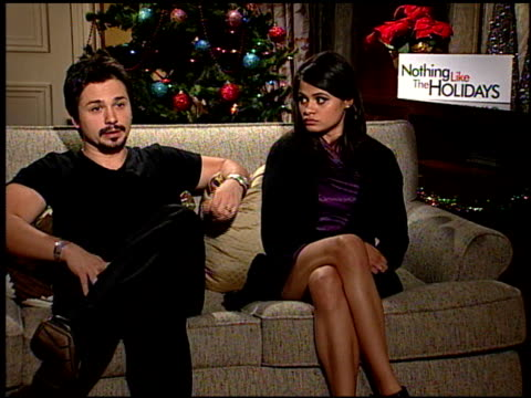 Freddie Rodriquez and Melonie Diaz on being close to where he grew up at the 'Nothing Like the Holidays' junket at Los Angeles CA