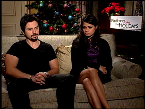 Freddie Rodriquez and Melonie Diaz on his character at the 'Nothing Like the Holidays' junket at Los Angeles CA