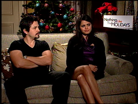 Freddie Rodriquez and Melonie Diaz on if people can relate with the story and characters at the 'Nothing Like the Holidays' junket at Los Angeles CA