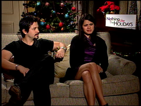Freddie Rodriquez and Melonie Diaz on the best parts about being in this film at the 'Nothing Like the Holidays' junket at Los Angeles CA