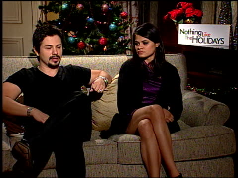 Freddie Rodriquez and Melonie Diaz on the experiences with the residence at the 'Nothing Like the Holidays' junket at Los Angeles CA