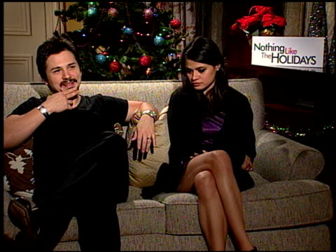 Freddie Rodriquez and Melonie Diaz on what it is about the holidays that bring out the craziness in families at the 'Nothing Like the Holidays'...
