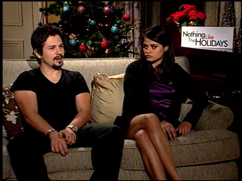 Freddie Rodriquez and Melonie Diaz on what this film tells us about families at the 'Nothing Like the Holidays' junket at Los Angeles CA
