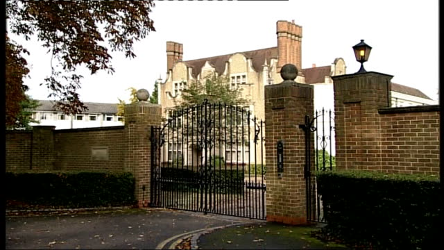 Freddie Starr interview on abuse claims LIB Staines EXT General view of Duncroft Manor Approved School School seen through metal gate