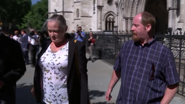Freddie Starr loses libel action against alleged groping victim ENGLAND London Royal Courts of Justice EXT Karin Ward along from High Court with...