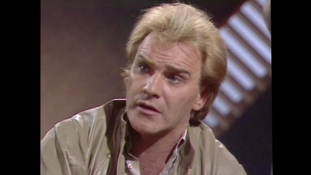 freddie starr speaking in 1984 wishing for peace at christmas we don't live that long you know and i'd just like to wish everybody a very happy... - men stock videos & royalty-free footage