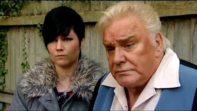 Freddie Starr will not face prosecution over sex offence charges TX Freddie Starr with Sophie Lea talking to reporter by fence Never I never have...