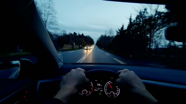 fredensborg denmark pov person vehicle day driving inside car dashboard - personal perspective stock videos & royalty-free footage