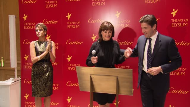 frederic de narp introduces jennifer howell at the eva mendes launches cartier love charity bracelet to benefit art of elysium at new york ny - bracelet stock videos & royalty-free footage