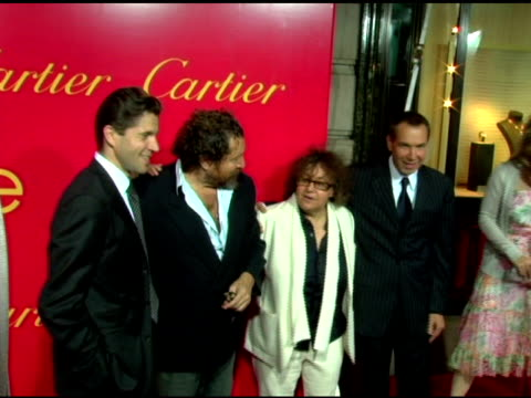 Frederic De Narp President and CEO Cartier NA Julian Schnabel and Ingrid Sischy Editor in Chief Interview Magazine at the Cartier and Interview...