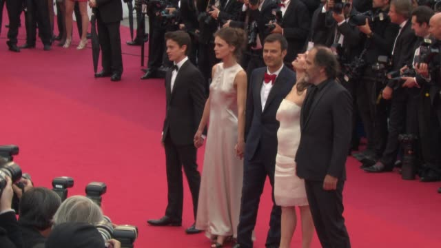 frederic pierrot, charlotte rampling, francois ozon, marine vacth and laurent delbecque at 'young and beautiful ' red carpet at palais des festivals... - charlotte rampling stock videos & royalty-free footage