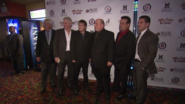 frederick shefte, eric parkinson, director scott marshall, ron singer, scott reed and mike dusy at the 'all's faire in love' new york premeire at new... - mike love stock videos & royalty-free footage