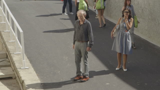 frederick wiseman at celebrity sightings in venice on august 29, 2014 in venice, italy. - frederick wiseman stock videos & royalty-free footage