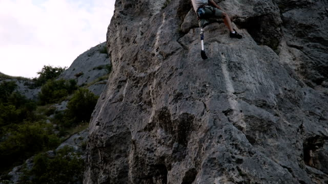 free climbing - prosthetic equipment stock videos & royalty-free footage