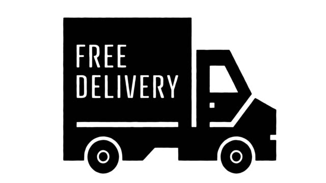 free delivery line drawing & ink splatter animation with alpha - drawing art product stock videos & royalty-free footage