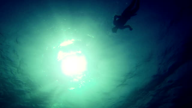 free diver descending in the abyss - sleep apnea stock videos and b-roll footage