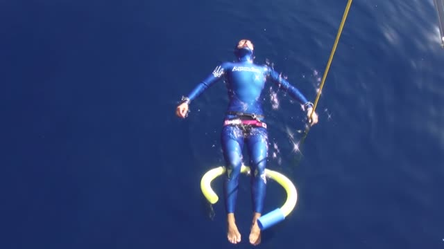 free divers compete in the cmas 3rd free diving outdoor world championship in antalya, turkey on october 04, 2018. - free diving stock videos & royalty-free footage