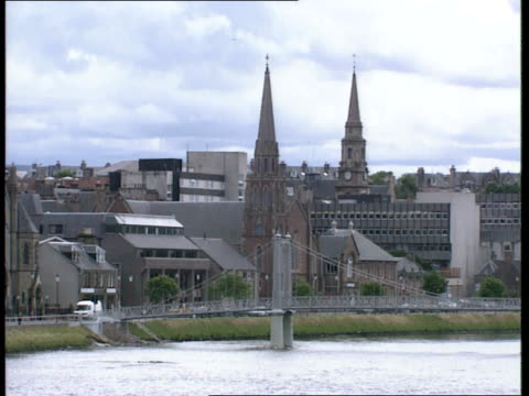 free presbyterian church in scotland cr585 perthshire inverness ext inverness churches along river's bank / spires and steeples - perthshire stock videos & royalty-free footage