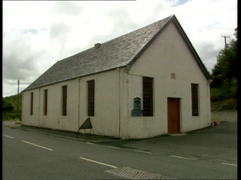 free presbyterian church in scotland; sign free presbyterian church / small roadside church int reverend john ross in kitchen with family ext ross... - synod stock videos & royalty-free footage