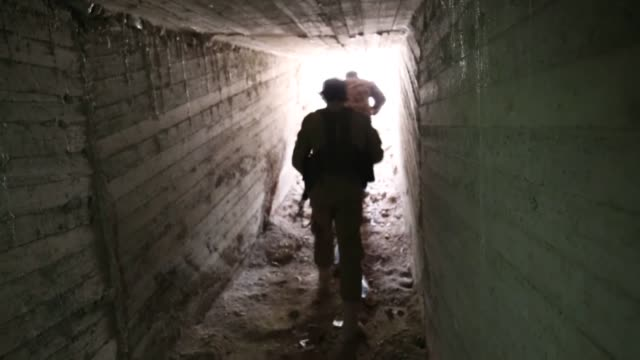 free syrian army discovers a new base of ypg/pkk terrorist organization during a security sweep in syria's northwestern afrin region, recently... - military base stock videos & royalty-free footage