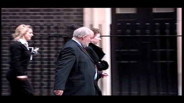 clarke under renewed pressure england london downing street charles clarke mp along to number 10 with others - cathy newman stock videos & royalty-free footage