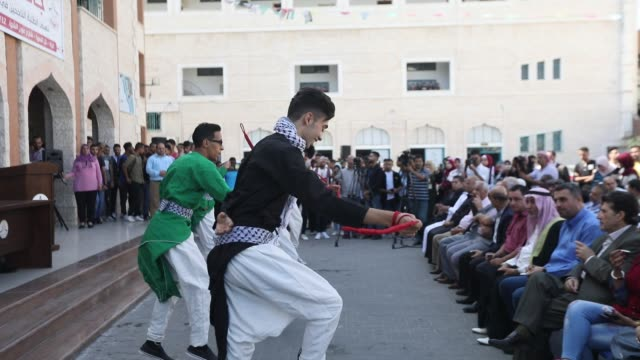 freedom and sea festival in gaza, palestine, on october 17, 2019. - パレスチナ自治区点の映像素材/bロール