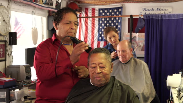 freedom barber shop - veterans of foreign wars of the united states stock videos & royalty-free footage