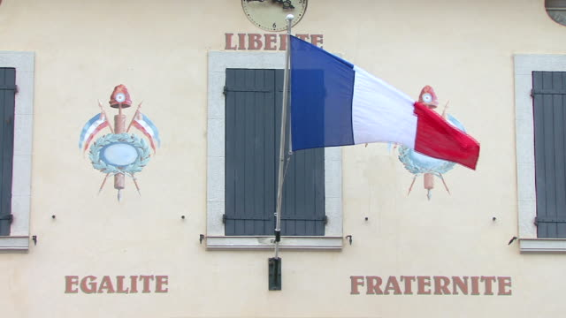 liberté egalité fraternité - town hall stock videos & royalty-free footage
