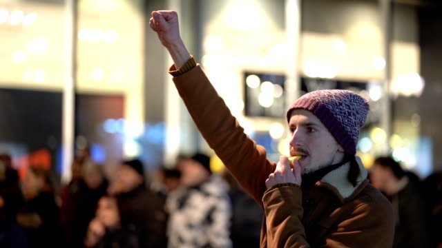 combattente per la libertà - social justice concept video stock e b–roll