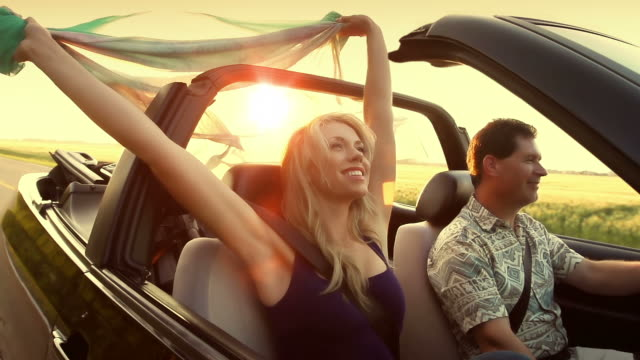 freedom in the country - convertible stock videos & royalty-free footage