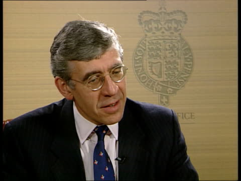 freedom of information bill: government concessions:; england: london: home office: int jack straw mp interview sot. - made as many changes as... - jack straw stock videos & royalty-free footage