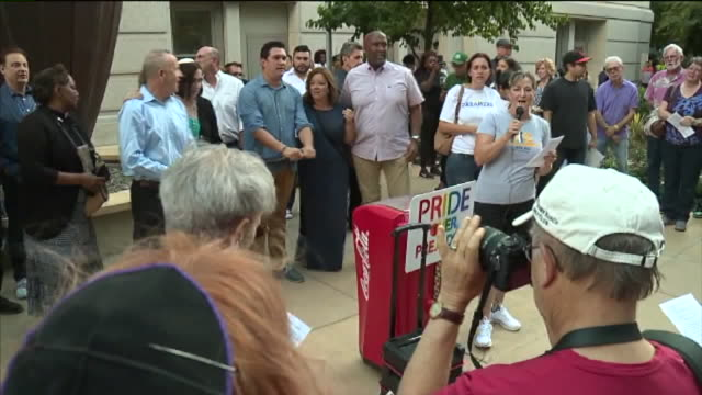 KTXL Freedom of Speech Sacramento City Hall Protest after those killed and injured over the weekend in connection with clashes between white...