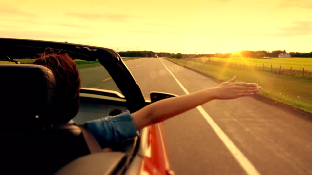 freedom on the highway of life. - sunset stock videos & royalty-free footage