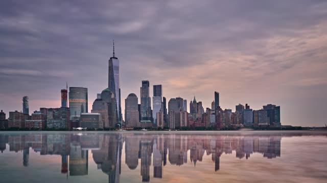 Freedom Tower and New York city skyline