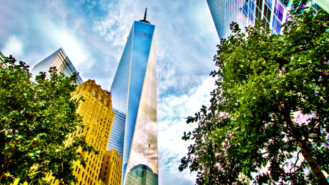 freedom tower in sky - september 11 2001 attacks stock videos & royalty-free footage