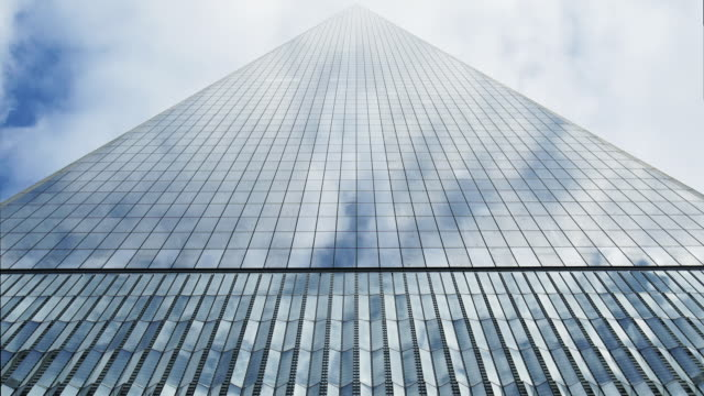 freedom tower meets the sky - majestic stock videos and b-roll footage
