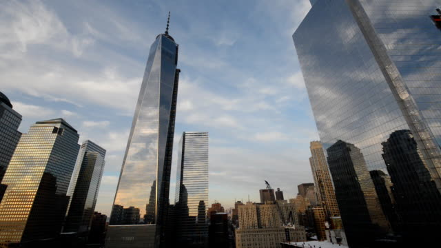 freedom tower time lapse - world trade centre manhattan stock videos and b-roll footage