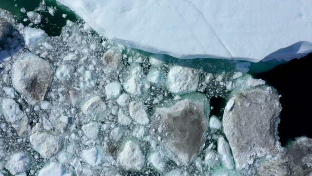 freefloating ice lies jammed into the ilulissat icefjord during unseasonably warm weather on july 30 2019 near ilulissat greenland the sahara heat... - nature stock videos & royalty-free footage