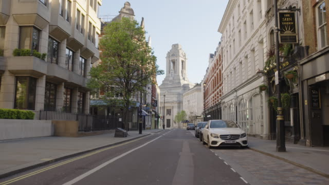 freemasons hall - empty london in lockdown during coronavirus pandemic - film moving image stock videos & royalty-free footage