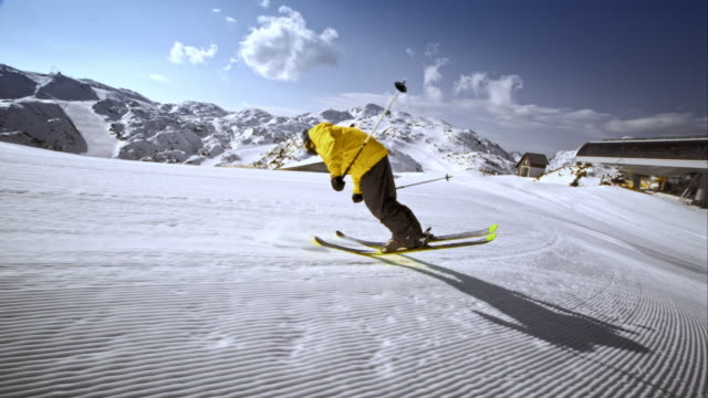 Ts Freestyle Skier Doing A Trick On The Slope Stock Footage Video