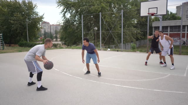 freestylin' in the hood - shooting baskets stock videos and b-roll footage