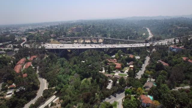 210 freeway and colorado street bridge, pasadena ca #2 - pasadena california stock videos and b-roll footage