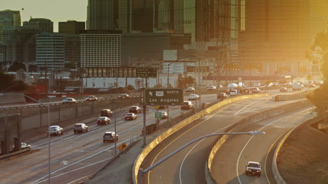 Freeway Interchange Outside Downtown Los Angeles