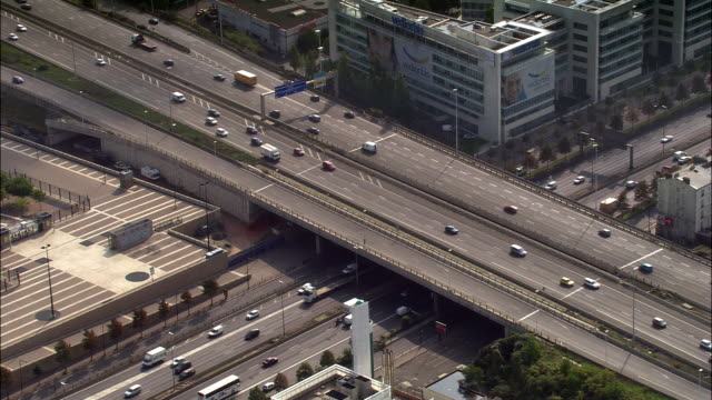 vidéos et rushes de aerial freeway overpass with heavy traffic/ strasbourg, france - strasbourg