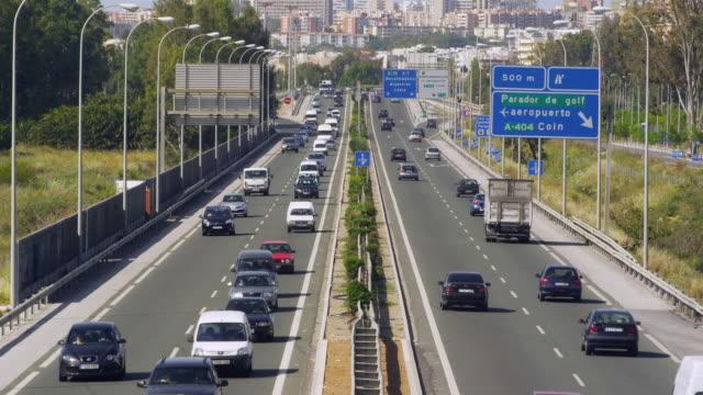 A7 freeway, the main artery of the Costa del Sol / Malaga, Andalusia, Spain